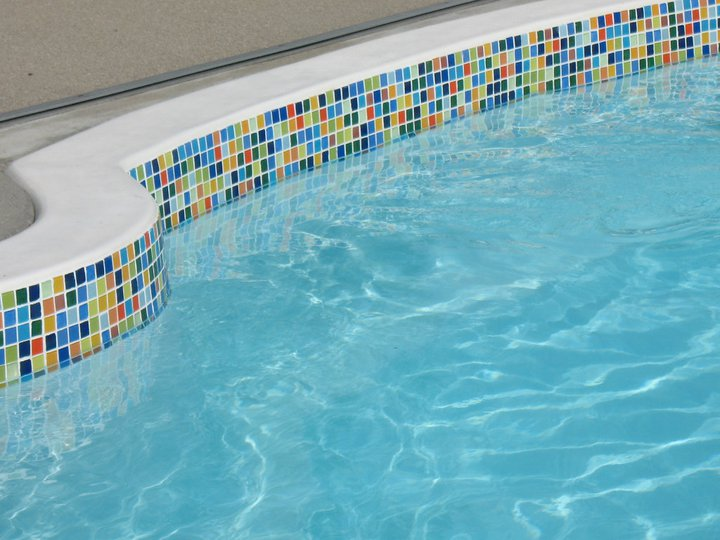 Colorful Old Florida Glass Tile Waterline