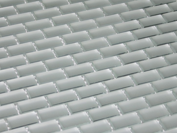 Silver Frosted Mirror Tile