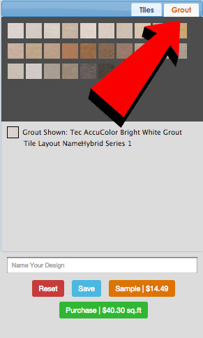 Grout Tab and Grout Colors