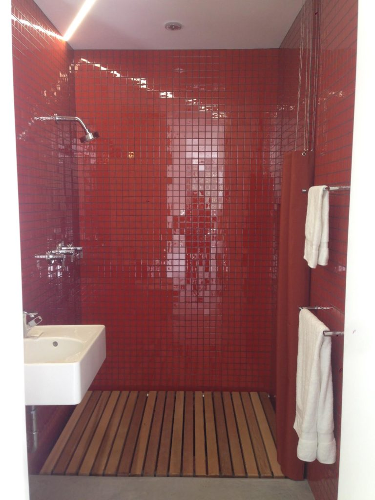 2x2-Inch Tomato Red Glass Tile