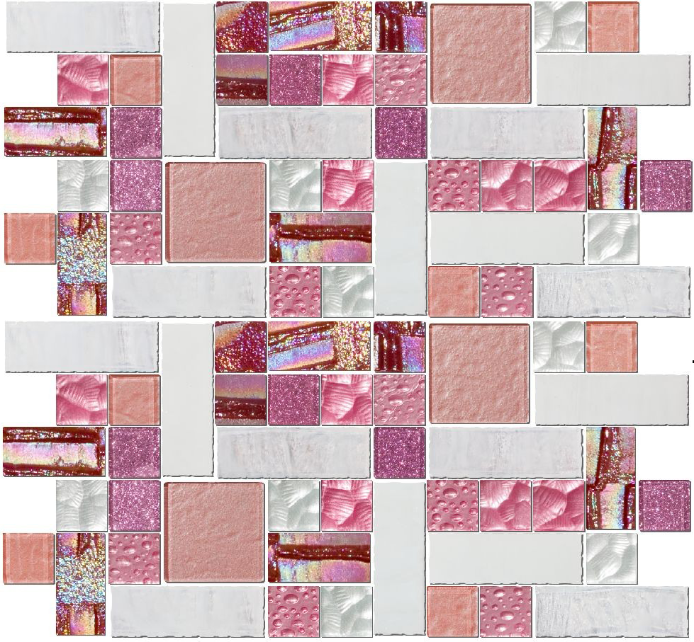 Dream On | Pink and White Glass Tile Mix