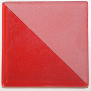 Red Bijou Glass Tile (JA1501) Half Glossy and Half Frosted