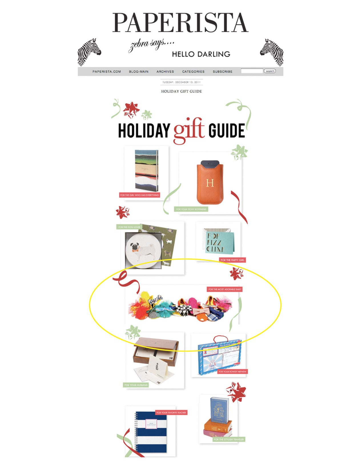 Paperista Holiday Gift Guide
