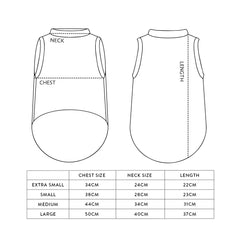 Pet Vest Size Guide