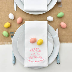 personalsied easter family napkins