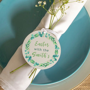 'Easter With The' Wreath Place Settings Set Of Two