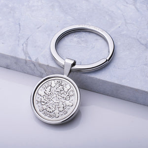 Lucky Sixpence Year Coin Keyring 1928-1967