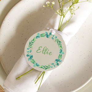 Easter Wreath Personalised Place Setting