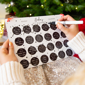 Personalised Random Acts of Kindness Reusable Advent Calendar