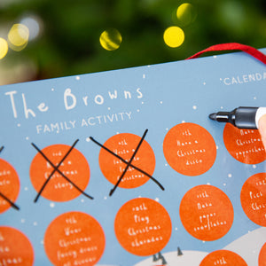 Personalised Family Reusable Activity Advent Calendar