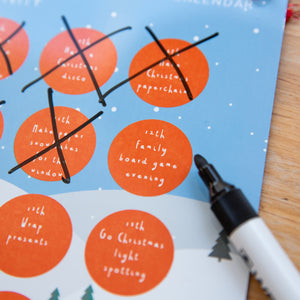 Personalised Kids Activity Reusable Advent Calendar