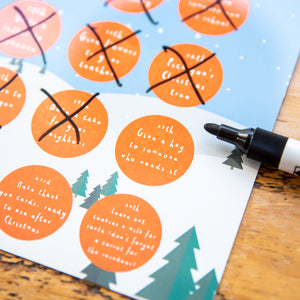 Personalised Children's Random Acts of Kindness Reusable Advent Calendar