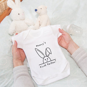 'Babies First Easter' Personalised Baby Grow