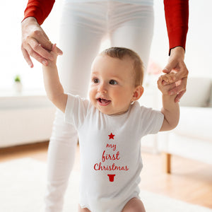 'My First Christmas' Baby Grow Body Suit