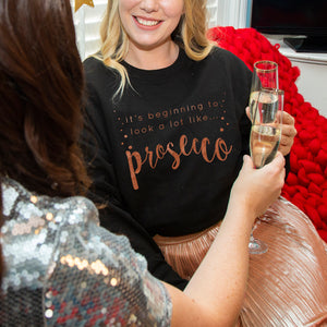 'Looks Like Prosecco' Christmas Jumper Unisex Sweatshirt