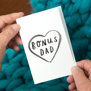 Step Dad 'Bonus Dad' Greeting Card