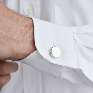 Monogram Personalised Button Cover Cufflinks