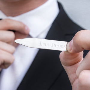 Personalised Silver Collar Stiffeners