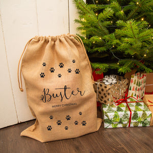 Personalised Pet Hessian Christmas Sack