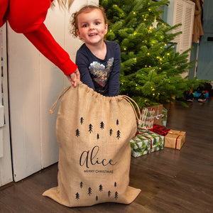 Personalised Scandinavian Tree Christmas Sack