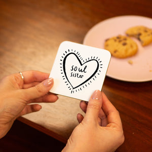 'Soul Sister' Friendship Drinks Coaster