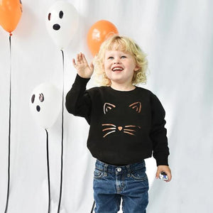 'Cat Face' Children's Halloween Jumper Sweatshirt