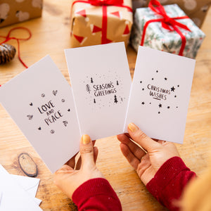 Pack Of Three Illustration Christmas Cards