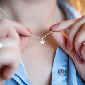 Classic Sterling Silver Star Neckace