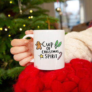 'Cup Of Christmas Spirit' Christmas Mug