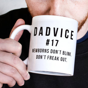 'Dadvice' Newborns Ceramic Mug