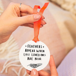 'Feather's Appear' Remembrance Keepsake Decoration