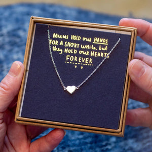 Mums Hold Our Hearts Forever Remembrance Necklace
