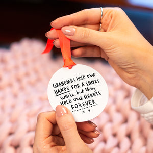 Grandma / Granny / Nanny 'You Hold Our Hearts Forever' Remembrance Keepsake