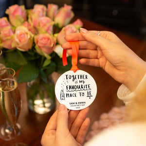 'My Favourite Place To Be' Personalised Decoration