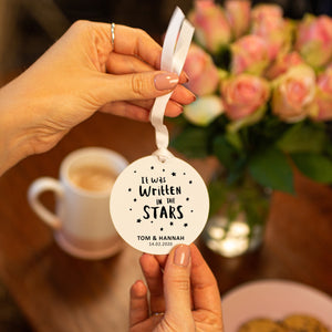 'Personalised Written In The Stars' Couples Decoration