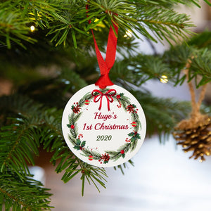 Personalised 'Baby's First Christmas' Tree Decoration