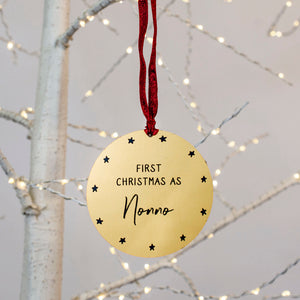 Personalised 'First Christmas As Grandma' Decoration