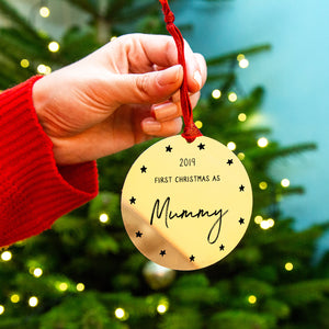 Personalised 'First Christmas As Mummy' Decoration