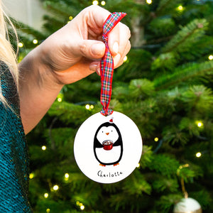 Personalised Penguin Christmas Tree Decoration