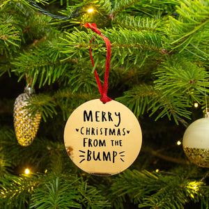 'Merry Christmas From The Bump' Christmas Decoration