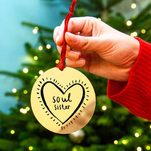 'Soul Sister' Friendship Christmas Decoration