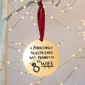 Amazing Girlfriends Get Promoted To Wife Christmas Decoration