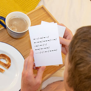 'Dad You Are My Hero' Morse Code Greeting Card