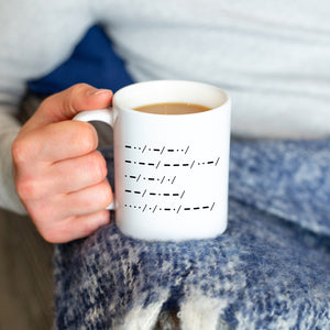 'Dad You Are My Hero' Morse Code Mug