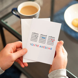 'Dad You're Awesome' Guitar Chords Greeting Card