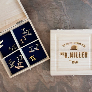 Personalised Dapper Grandad Club Cufflink Box
