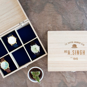 Personalised Dapper Grandad Club Watch Box
