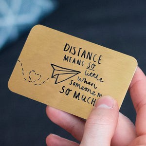 'Distance Means So Little' Long Distance Gift Card