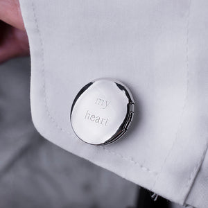 Remembrance Forever In My Heart Locket Cufflinks