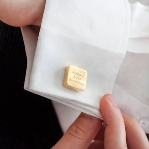 Solid Square Personalised Cufflinks
